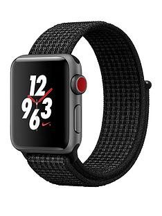 Apple Watch Nike+ GPS + Cellular, 38mm Space Grey Aluminium Case with Black/Pure Platinum Nike Sport Loop