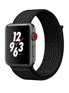 Apple Watch Nike+ GPS + Cellular, 42mm Space Grey Aluminium Case with Black/Pure Platinum Nike Sport Loop