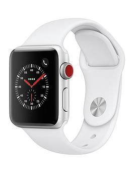 Compare prices with Phone Retailers Comaprison to buy a Apple Watch Series 3 (2018 Gps + Cellular), 38Mm Silver Aluminium Case With White Sport Band