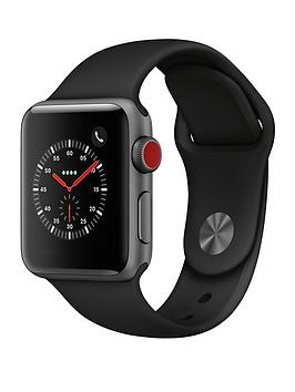 Apple Watch Series 3 (2018 Gps + Cellular), 38Mm Space Grey Aluminium Case With Black Sport Band cheapest retail price
