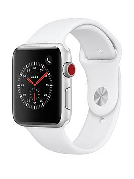 Compare prices with Phone Retailers Comaprison to buy a Apple Watch Series 3 (2018 Gps + Cellular), 42Mm Silver Aluminium Case With White Sport Band