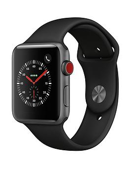 Compare prices with Phone Retailers Comaprison to buy a Apple Watch Series 3 (2018 Gps + Cellular), 42Mm Space Grey Aluminium Case With Black Sport Band