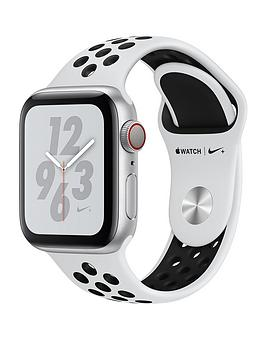Apple Watch Nike+ Series 4 (Gps + Cellular), 40Mm Silver Aluminium Case With Pure Platinum/Black Nike Sport Band cheapest retail price