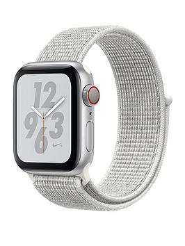 Compare prices with Phone Retailers Comaprison to buy a Apple Watch Nike+ Series 4 (Gps + Cellular), 40Mm Silver Aluminium Case With Summit White Nike Sport Loop