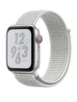 Apple Watch Nike+ Series 4 (Gps + Cellular), 44Mm Silver Aluminium Case With Summit White Nike Sport Loop cheapest retail price
