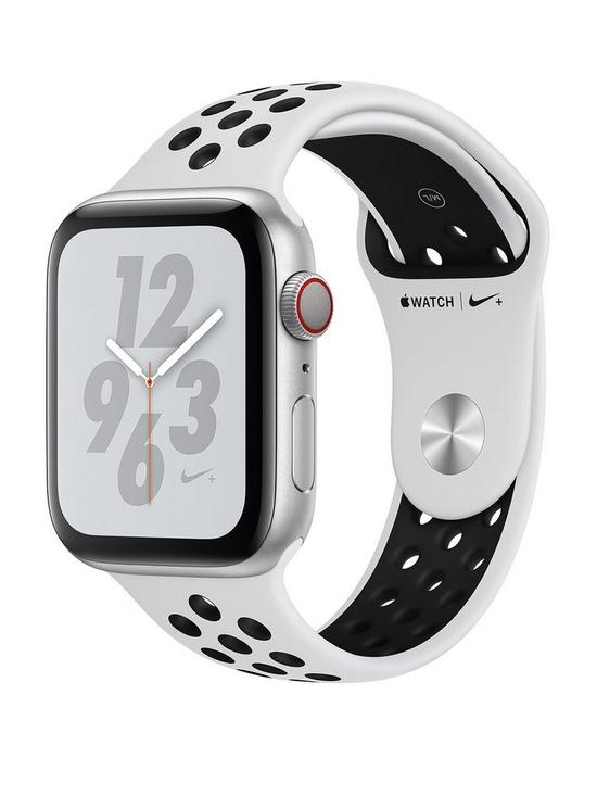 ccf3d865d7 Apple Watch Nike+ Series 4 (GPS + Cellular), 44mm Silver Aluminium Case  with Pure Platinum/Black Nike Sport Band