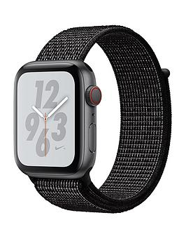 Compare prices with Phone Retailers Comaprison to buy a Apple Watch Nike+ Series 4 (Gps + Cellular), 44Mm Space Grey Aluminium Case With Black Nike Sport Loop