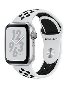 Buy Brand New Apple Watch Nike+ Series 4 (Gps), 40Mm Silver Aluminium Case With Pure Platinum/Black Nike Sport Band