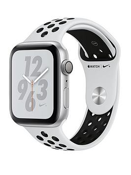 Buy Brand New Apple Watch Nike+ Series 4 (Gps), 44Mm Silver Aluminium Case With Pure Platinum/Black Nike Sport Band