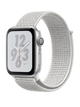 Apple Watch Nike+ Series 4 (Gps), 44Mm Silver Aluminium Case With Summit White Nike Sport Loop cheapest retail price