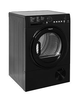 Hotpoint Aquarius Tcfs835Bgk 8Kg Load Condenser Sensor Tumble Dryer - Black