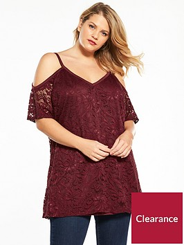 v-by-very-curve-lace-cold-shoulder-ruffle-top-burgundy
