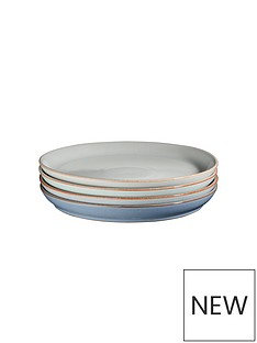 denby-always-entertaining-blues-4-piece-medium-coupe-plate-set