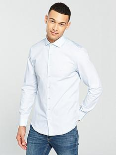 calvin-klein-long-sleeve-plain-fitted-rome-shirt-bluenbsp