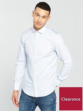 calvin-klein-long-sleeve-plain-fitted-rome-shirt-bluenbsp