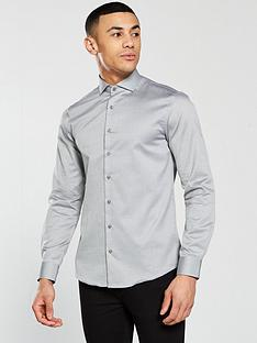 calvin-klein-long-sleeve-plain-fitted-norwich-shirt-meteor-grey