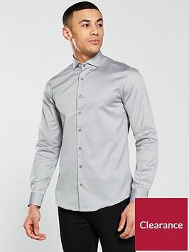 calvin-klein-long-sleeve-plain-fitted-norwich-shirt-meteor-grey