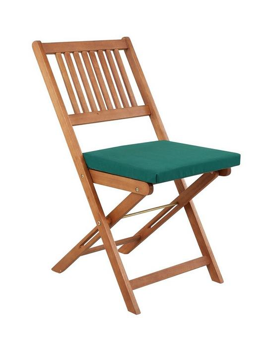 pack of 2 garden chair seat pads green