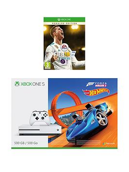 xbox-one-s-500gb-console-with-forza-horizon-3-hot-wheels-and-fifa-18-ronaldo-edition-plus-12-months-live