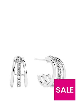 sif-jakobs-sterling-silver-rhodium-plated-ozieri-piccolo-earrings-with-cubic-zirconia