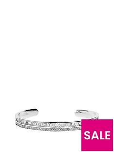 sif-jakobs-sterling-silver-rhodium-plated-corte-piccolo-bangle-with-baguette-cubic-zirconia