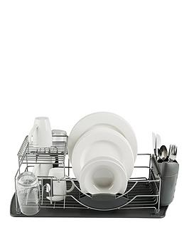 tower-compact-2-tier-dish-rack-with-cutlery-holder