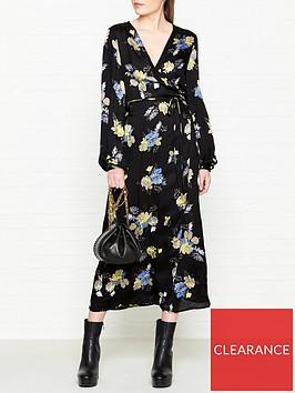 gestuz-aia-floral-print-wrap-dress-black