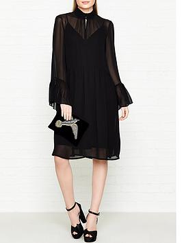 gestuz-baxtor-chiffon-dress-black