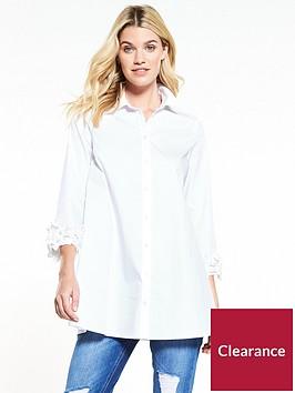v-by-very-flower-cuff-shirt-white