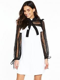 river-island-river-island-contrast-lace-detail-swing-dress--ivory