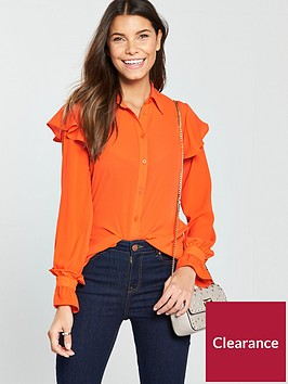 v-by-very-ruffle-shoulder-blouse