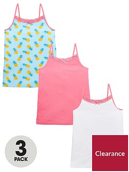 v-by-very-girlsnbsp3-packnbsppineapple-vests-multi