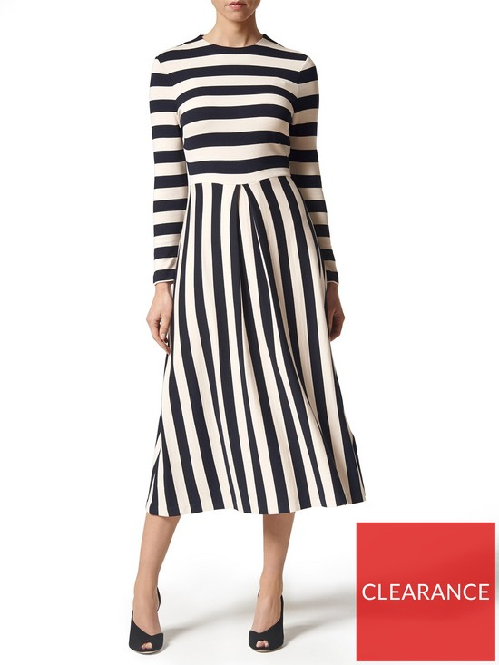 72f7842b745 L.K. Bennett Maria Striped Long Sleeve Dress - Blue/cream | very.co.uk