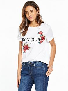 v-by-very-3d-flower-bonjour-tshirt