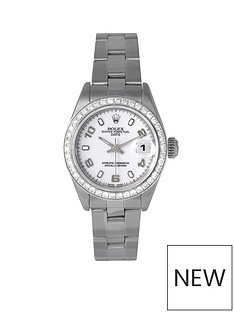 rolex-pre-owned-datejust-aftermarket-diamond-bezel-amp-white-arabic-numeral-dial-stainless-steel-ladies-watch-ref-69174