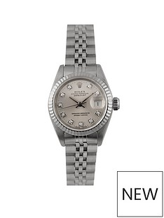 rolex-rolex-pre-owned-datejust-originbal-silver-diamond-dial-stainless-steel-ladies-watch-ref-69174