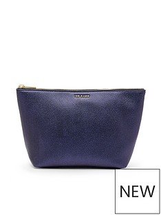 ted-baker-metallic-grainy-wash-bag