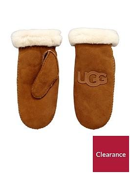 ugg-sheepskin-heritage-logo-mittens-chestnutnbsp