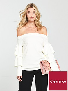 v-by-very-bardot-tiered-sleeve-jumper