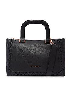 ted-baker-interlocking-leather-tote