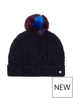 ted-baker-cable-knot-bobble-hat