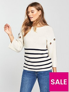 v-by-very-eyelet-trim-stripe-jumper