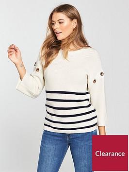 v-by-very-eyelet-trim-stripe-jumper