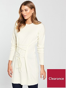v-by-very-corset-tie-tunic-cream