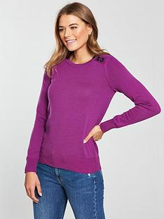 v-by-very-update-button-detail-rib-jumper-magenta