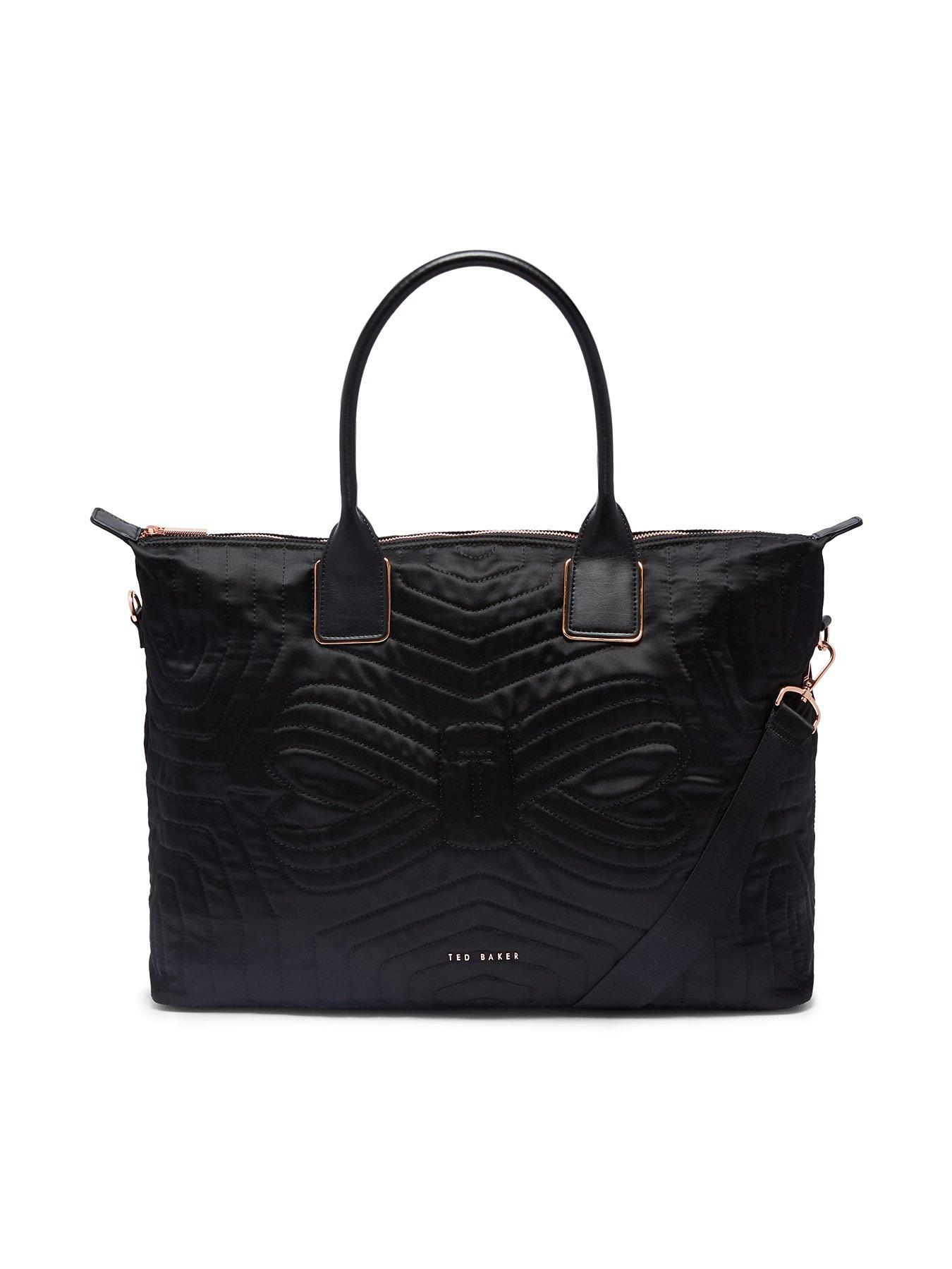 Ted Baker Quilted Large Nylon Tote Bag - Black