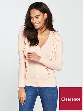 v-by-very-v-neck-frill-detail-button-ribbed-cardigan-nude-pink