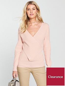 v-by-very-wrap-over-rib-jumper-blush-pink