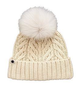 ugg-textured-cuff-with-pom-pom-detail-hat