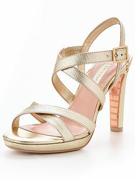 Dune London Dune Bridal Marriah Strap Detail Slim Platform Sandal